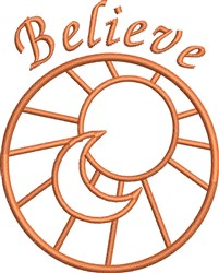 Believe Outline embroidery design