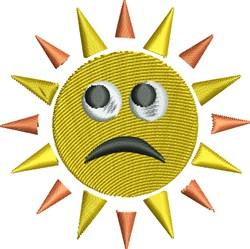 Sad Sunshine embroidery design