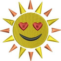 Sunshine Face embroidery design