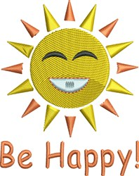 Be Happy embroidery design