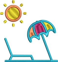 Beach Umbrella embroidery design