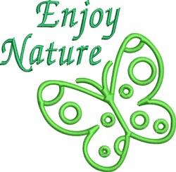 Enjoy Nature Outline embroidery design