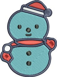 Blue Snowman embroidery design