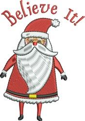 Believe Cool Santa embroidery design