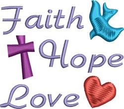 Love Hope Faith embroidery design
