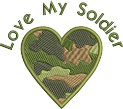 Love My Soldier embroidery design