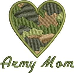 Army Mom embroidery design
