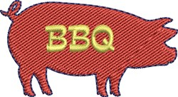 BBQ Pig embroidery design