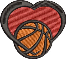 Basketball Love embroidery design