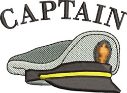Captains Hat embroidery design