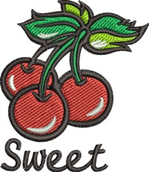 Sweet Cherries embroidery design
