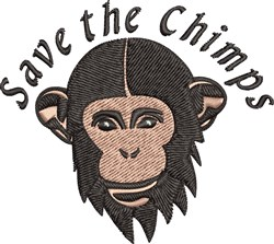 Save The Chimps embroidery design