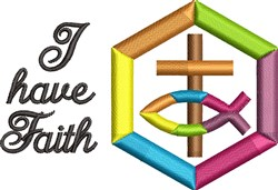 I Have Faith embroidery design