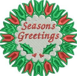 Seasons Greetings Wreath embroidery design