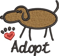 Adopt Dogs embroidery design