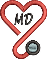 MD Heart embroidery design