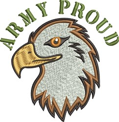 Army Proud embroidery design