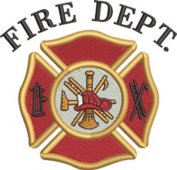 Fire Dept embroidery design
