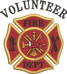 Fire Volunteer embroidery design