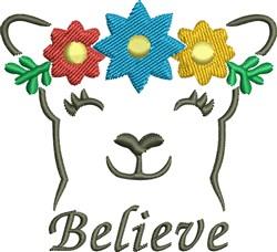 Flower Bear Believe embroidery design