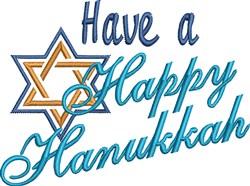A Happy Hanukkah embroidery design