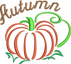 Autumn Pumpkin embroidery design