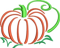 Harvest Pumpkin embroidery design