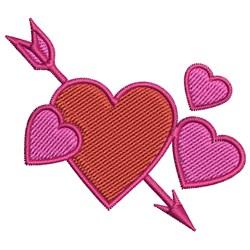 Cupid Arrow embroidery design