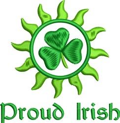 Proud Irish embroidery design
