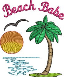 Beach Babe embroidery design