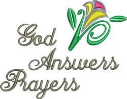 God Answers Prayers embroidery design