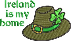 Ireland Is Home embroidery design