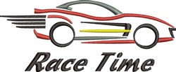 Race Time embroidery design