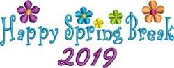 Spring Break 2019 embroidery design