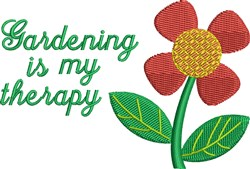 Gardening Therapy embroidery design