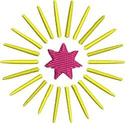 Star Burst embroidery design