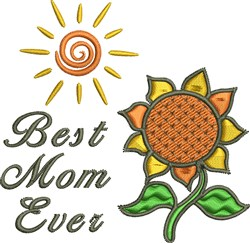 Best Mom Ever embroidery design