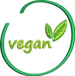 Vegan Leaf embroidery design