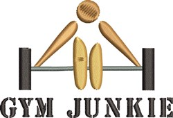 Gym Junkie embroidery design
