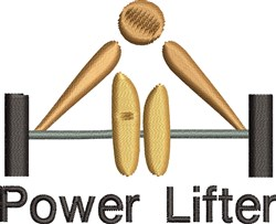 Power Lifter embroidery design