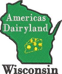 Wisconsin Dairyland embroidery design