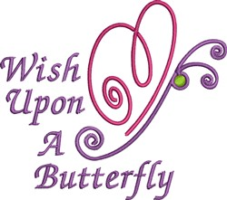 Wish Up A Butterfly embroidery design