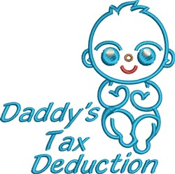 Daddys Tax Deduction Baby Boy embroidery design