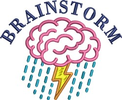 Brainstorm embroidery design
