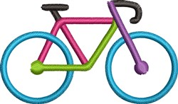 Colorful Bicycle embroidery design