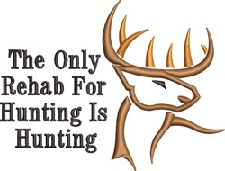Rehab For Hunting embroidery design