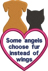 Some Angels Choose Fur embroidery design