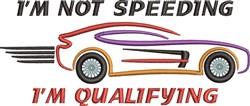 Im Not Speeding embroidery design