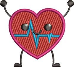 Happy Heart embroidery design