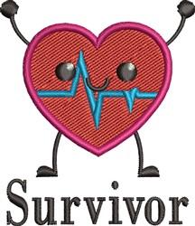 Survivor embroidery design